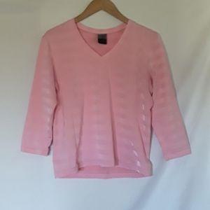 Very Nice Pink Nike Dri-Fit 3/4 Sleeve Top